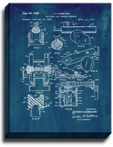 Toy Track And Vehicle Therefor Patent Print Midnight Blue on Canvas - $39.95+