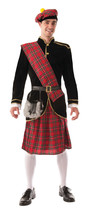 Forum Novelties Men's Scotsman Costume, Red/black, Standard #hdi - $59.29