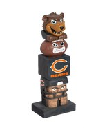 "Chicago Bears Team Garden Statue Totem Tiki 16"" Tall Indoor/outdoor Use - $32.62"