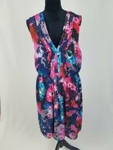 Betsey Johnson women 14 cocktail Fit & Flare dress sleeveless pleated fl... - $44.55