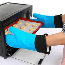Oven Heat Baking Silicone Gloves Resistant BBQ Cooking Mitts Grill Holde... - $12.64