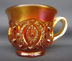 Northwood MEMPHIS Marigold Carnival Glass Punch Cup 5317 - $24.75