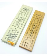Toys R US Cribbage Board 2 Track Hardwood Metal Pegs No.230464 Vintage 1... - $12.99