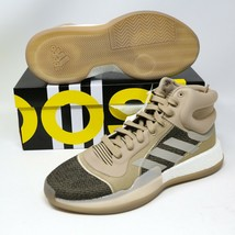 adidas Marquee Boost Khaki Brown Black G27734 size 12.5 EUR 47,5 Basketb... - $118.79