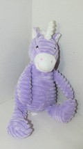 Unipak plush purple white unicorn ribbed 2012 bean tush sitting up seated - $19.79