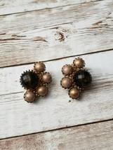 Vintage Clip On Earrings Bronze Earrings - $13.99