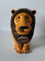 VTG Roaring Talking Lion The Original Tiger Cookie Jar Tested Works Plas... - $28.75