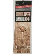 "BACKSPLASH Sticker / Wall Decal (30""x18"") for Kitchen Walls, BROWN TILES #4, GR - $9.89"