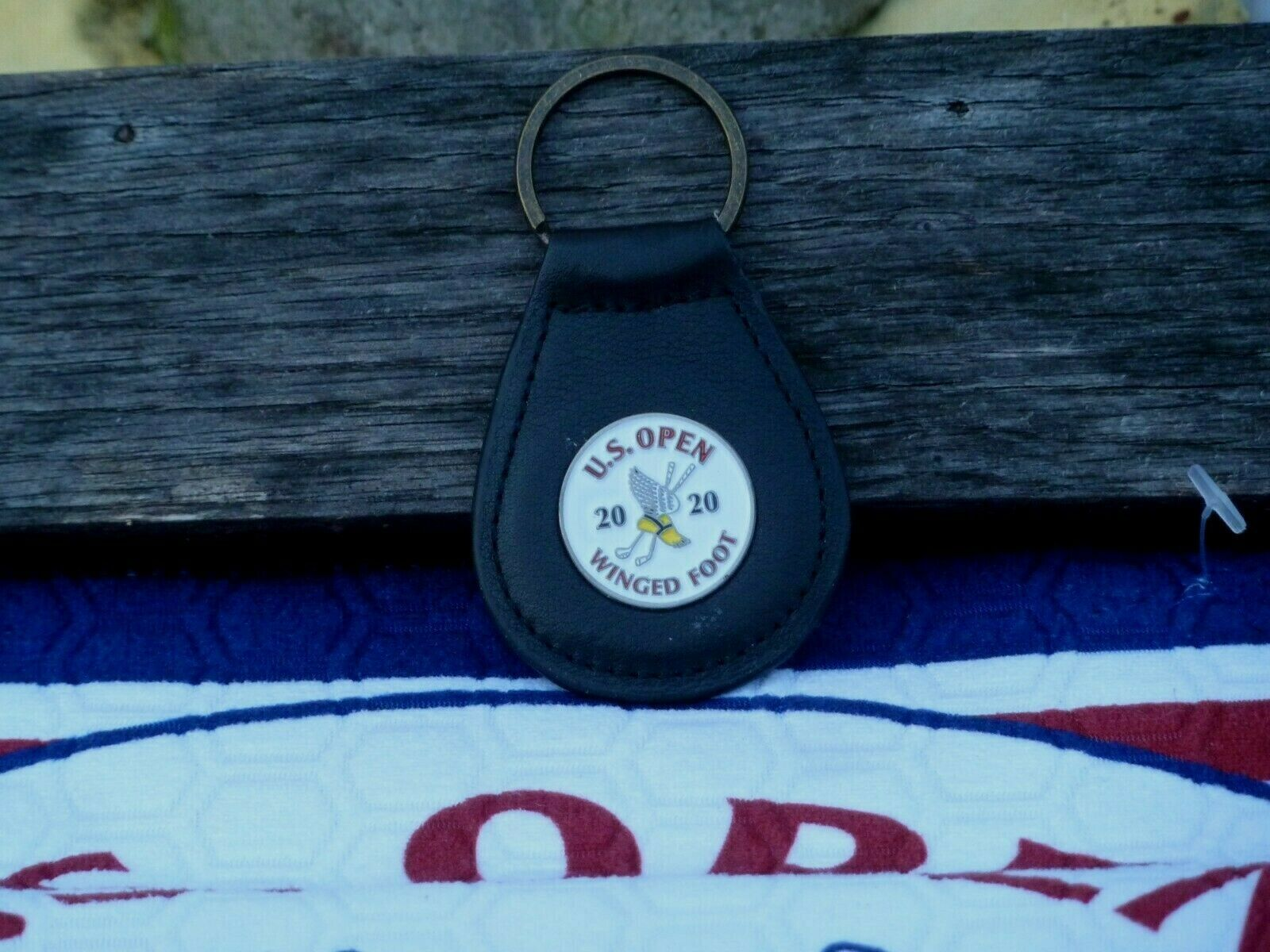 Primary image for US Open 2020 Winged Foot FOB Keychain Black