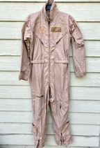 Us Air Force Usaf Nomex Fire Resistant Flight Suit Green CWU-27/P - 38R - $59.40