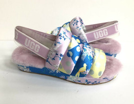 UGG PUFF YEAH FLORAL MULTI MOCASSIN SLIP ON SANDAL US 7 / EU 38 / UK 5 - $101.92