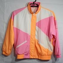 Ellesse vintage women's jacket windbraker multicolor zipper front size S/M - $33.66