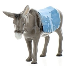 Hagen-Renaker Specialties Ceramic Nativity Figurine Donkey with Blanket