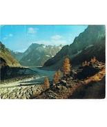 France Postcard Mont Blanc Grandes Jorasses Mountain River Countryside - $3.92