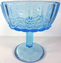 "Westmoreland Glass Brandywine Blue Paneled Grape 6.25"" Straight Rim Open Compote - $49.99"