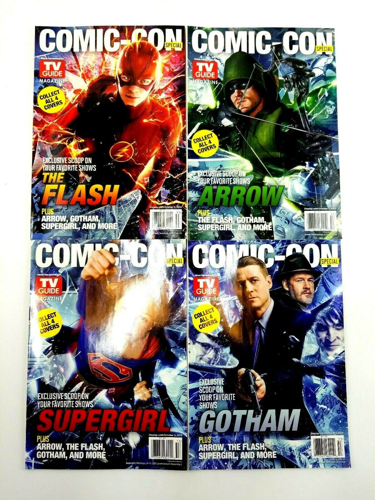 SDCC 2015 TV Guide Magazine Comic Con Exclusive Set Supergirl Arrow Flash Gotham