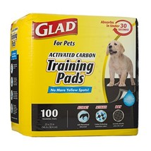 Glad for Pets Black Charcoal Puppy Pads | Puppy Potty (100 Count|Regular) - $23.04