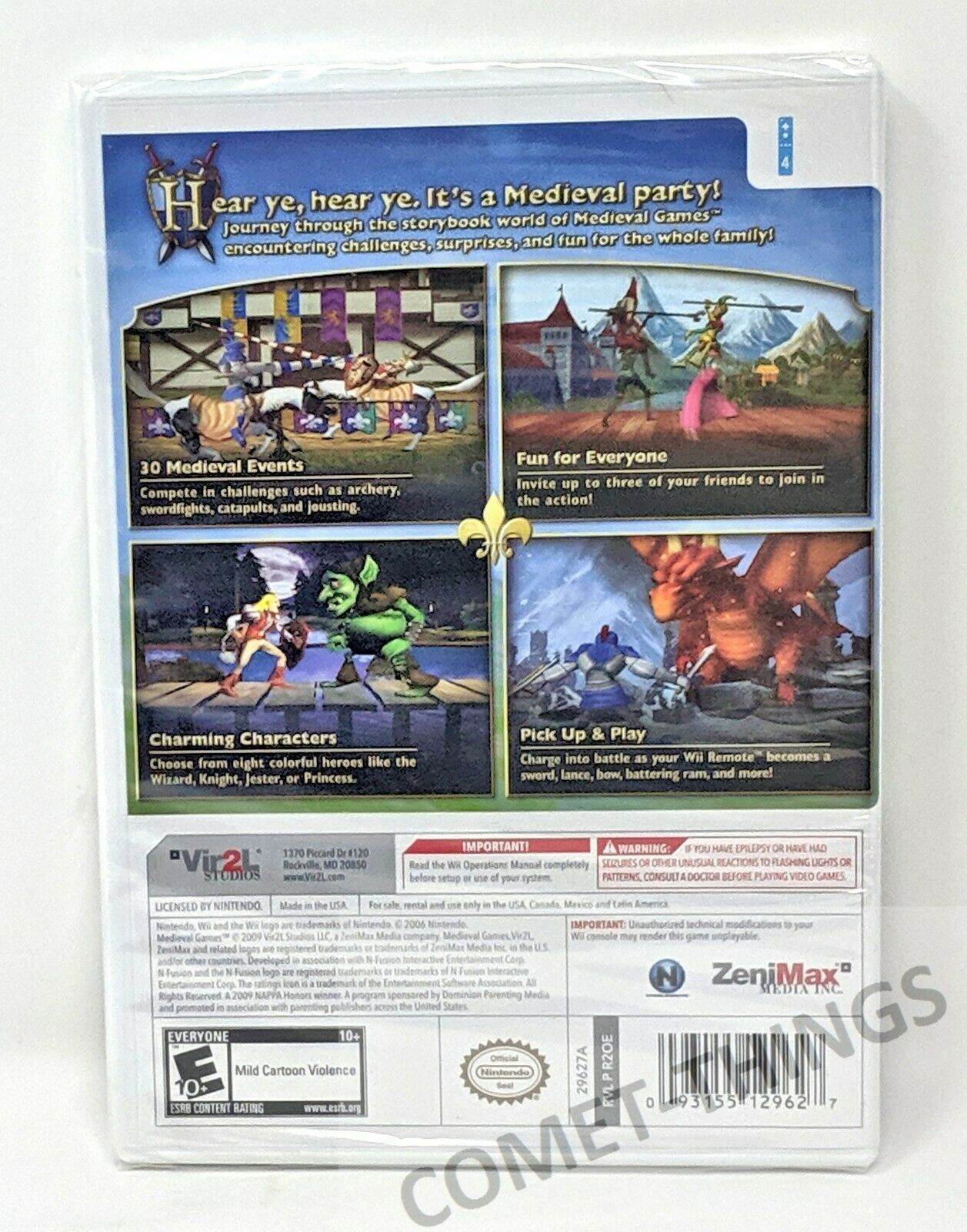 MEDIEVAL GAMES for NINTENDO WII ~ NEW & SEALED image 2