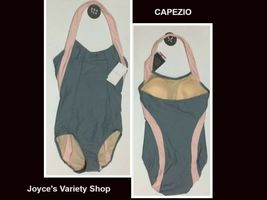 Capezio Bra Tek Dancewear Leotard Various Sizes Gray & Pink NWT image 1
