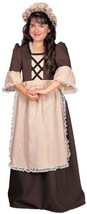 Rubie's 882625 Girls 12-14 Colonial Girl Dress with Apron and Hat - $36.88