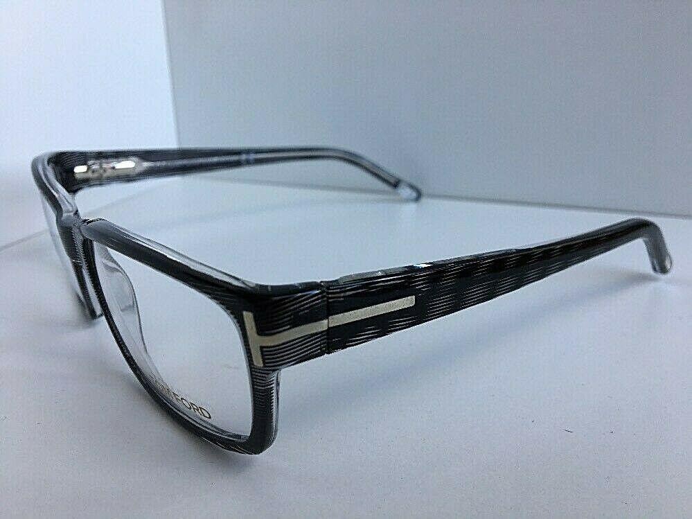 New Tom Ford TF 5013 R92 54mm Rx Rectangular Men's Eyeglasses Frame Italy