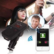 LCD-Car-Kit-FM-Transmitter-Wireless-Handsfree.-Mic-USB-Charger-TF-MP3 - $16.90