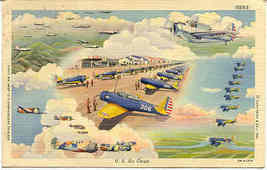 United States Air Corp Post Card World War 2 Vintage - $5.00