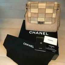 Auth CHANEL Shoulder Bag Suede Matelasse Chocolate Bar Flap Wemen B4321 - $965.25