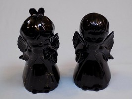 Kissing Angels Christmas Figures Holiday Pair Black Set 2 Lot Tall Large... - $34.99