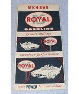 Vintage RS Royal Royalube Gasoline Michigan Road Map Ca 1956 - $6.95