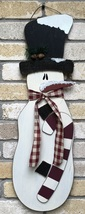 Snowman with Top Hat, Candy Cane and Scarf  - $12.95