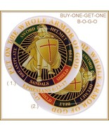 "BOGO Knights Templar Religious Emblem ""Put On The Whole Armour of GOD"" B... - $18.95"