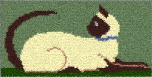 Latch Hook Rug Pattern Chart: SIAMESE - EMAIL2u