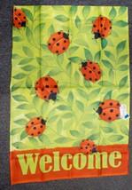 """Lotsa Ladybugs Spring 28""""x40"""" Banner Decorative House Flag NEW - $9.89"""