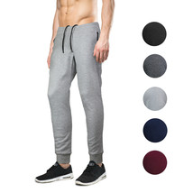 Men's Athletic Running Sport Workout Fitness Gym Zip Pocket Jogger Sweat Pants