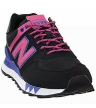 New Balance 574 Classic Sneakers WL574JOA Black Pink Womens Size 7 New Fast Ship - $73.50