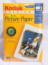 """Kodak Premium High Gloss Picture Paper, 25 4"""" x 6"""" Sheets New In Package jds - $39.91"""