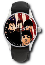 THE BEATLES IN AMERICA VINTAGE WARHOLESQUE FAB FOUR ART COLLECTIBLE WRIS... - $99.99