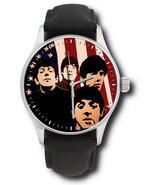 THE BEATLES IN AMERICA VINTAGE WARHOLESQUE FAB FOUR ART COLLECTIBLE WRIS... - $132.67 CAD
