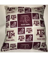 Texas ATM NCAA Football Pillow Handmade In USA Texas Pillow ATM - $11.96
