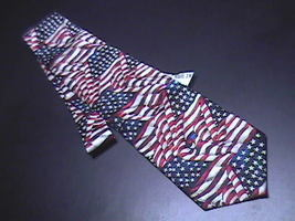 Ralph Marlin RM Style Neck Tie Ol Glory 2002 Unused Retail Paper Tag Attached - $12.99