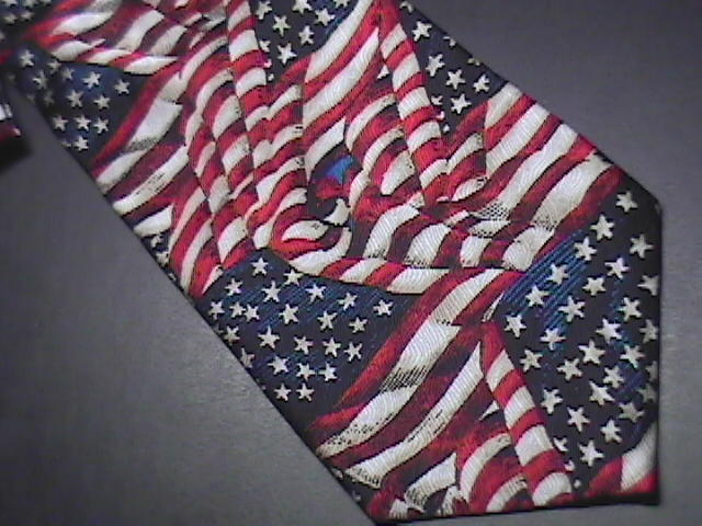 Ralph Marlin RM Style Neck Tie Ol Glory 2002 Unused Retail Paper Tag Attached