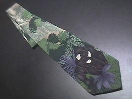 WWF World WildLife Fund Neck Tie Mountain Gorillas Purples Greens Design 129 - $10.99