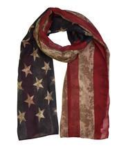 Vintage American Flag Print Scarf - ₨589.70 INR