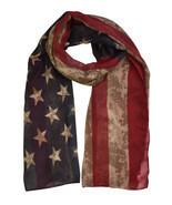 Vintage American Flag Print Scarf - $7.99