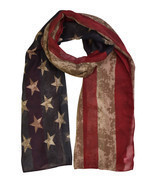 Vintage American Flag Print Scarf - $161,51 MXN