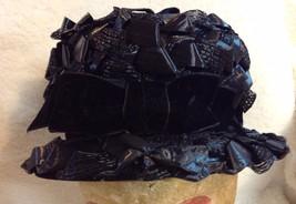 Vintage Black Ribbon Hat Vicki Jo Original - $30.00