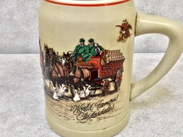 Budweiser World Famous Clydesdales Beer Mug - £26.17 GBP