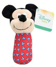 "Mickey Mouse Stick Rattle ""Disney Baby"" New with Gift Card Tag - $3.91"