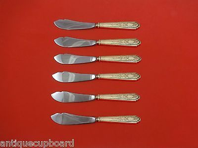 Primary image for Mary II by Lunt Sterling Silver Trout Knife Set 6pc. HHWS  Custom 7 1/2""
